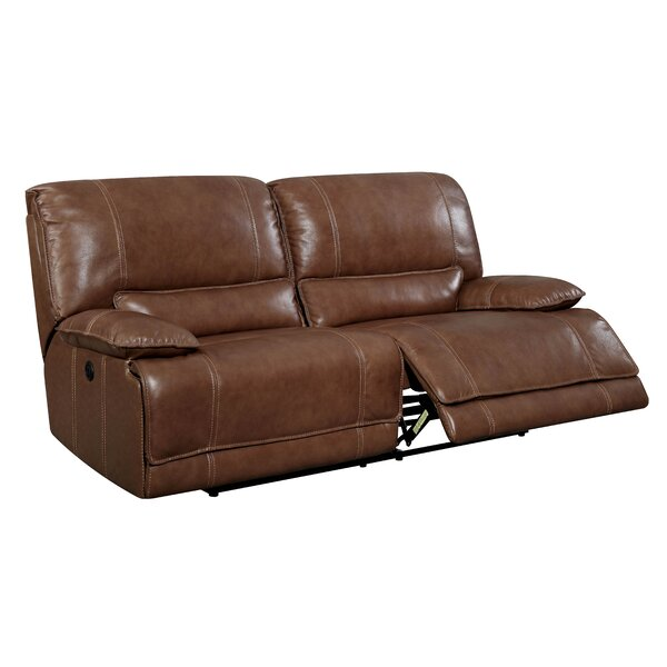 Dupree Leather Reclining Sofa by 17 Stories