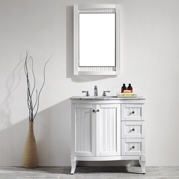Saint 36 Single Vanity Set with Mirror by Beachcrest HomeSaint 36 Single Vanity Set with Mirror by Beachcrest Home