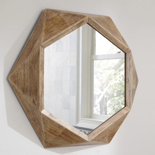 Wood Accent Mirror by Union Rustic