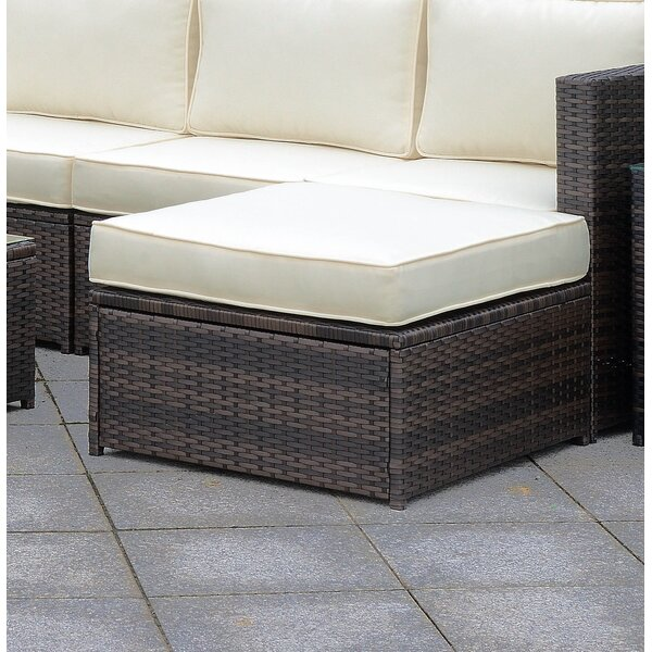 Morrell Outdoor Ottoman with Cushion by Ebern Designs
