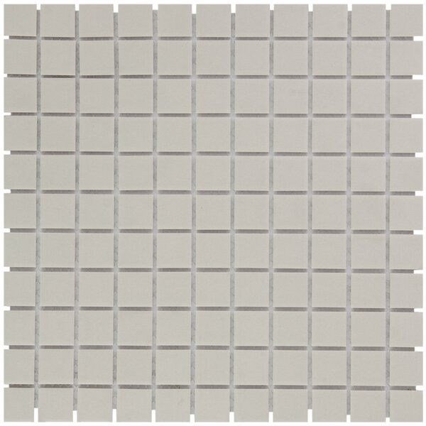 London 2 x 2 Porcelain Mosaic Tile in Cream White by The Mosaic Factory