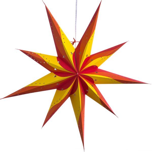Surya Pointed Paper Star Light by Hometown Evolution, Inc.