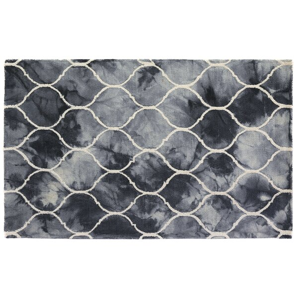 Dip-Dye Hand-Tufted Wool Blue Area Rug by Exquisite Rugs