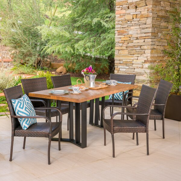 Outdoor 7 Piece Dining Set by Ivy Bronx