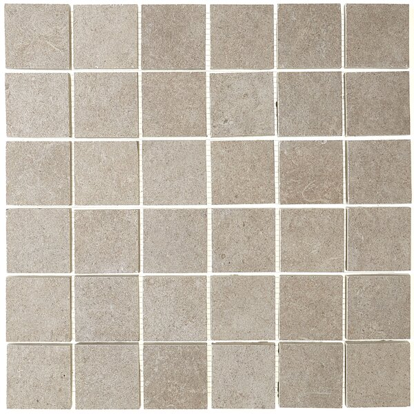 Haut Monde 2 x 2 Ceramic Mosaic Tile in Elite Gray by Daltile