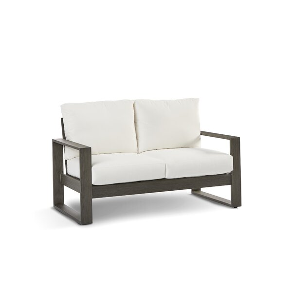 Parks Sheppard Patio Loveseat with Cushion by Modern Rustic Interiors