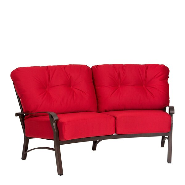 Cortland Crescent Loveseat by Woodard