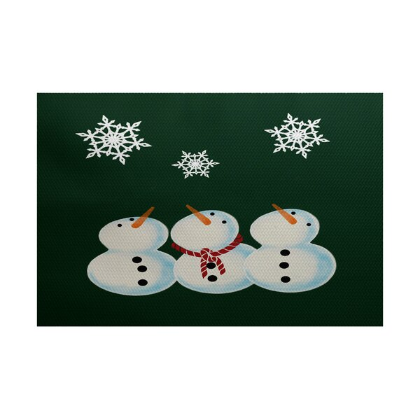 Christmass Dark Green Indoor/Outdoor Area Rug by The Holiday Aisle