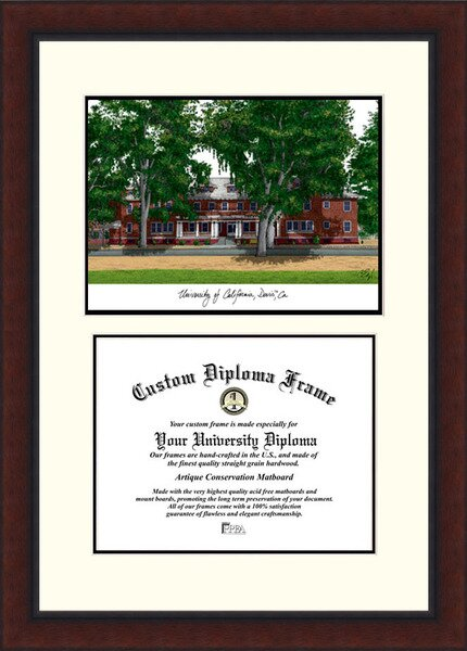 NCAA California University, Davis Legacy Scholar Diploma Picture Frame by Campus Images