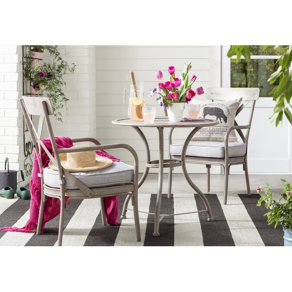 Marquette 3 Piece Bistro Set With Cushions By Birch Lane™ Heritage