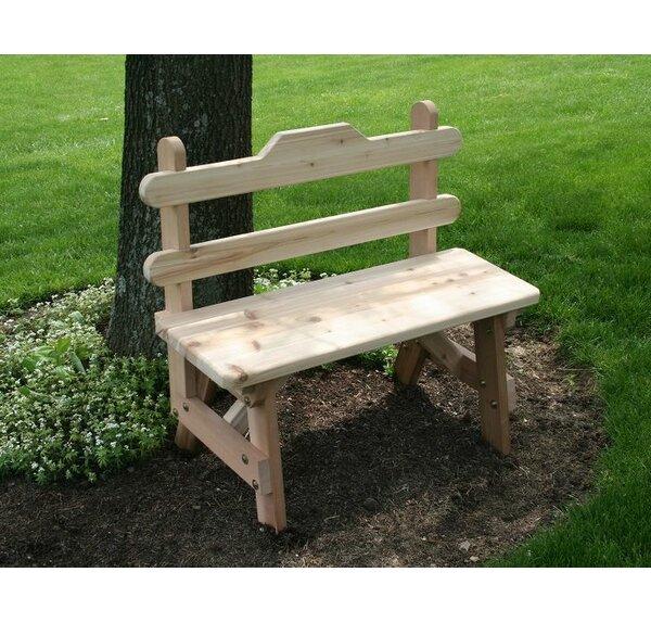 Tillison Cedar Tab Back Bench by August Grove