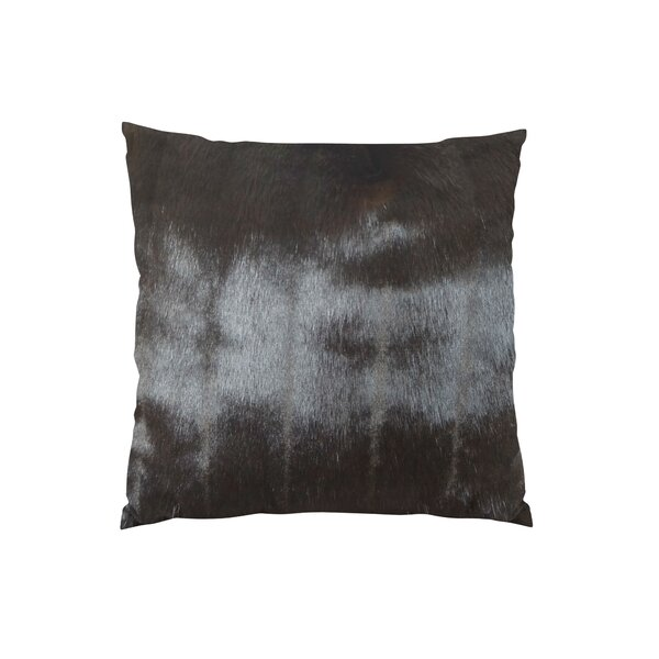 Tip Dyed Mink Handmade Throw Pillow by Plutus Brands