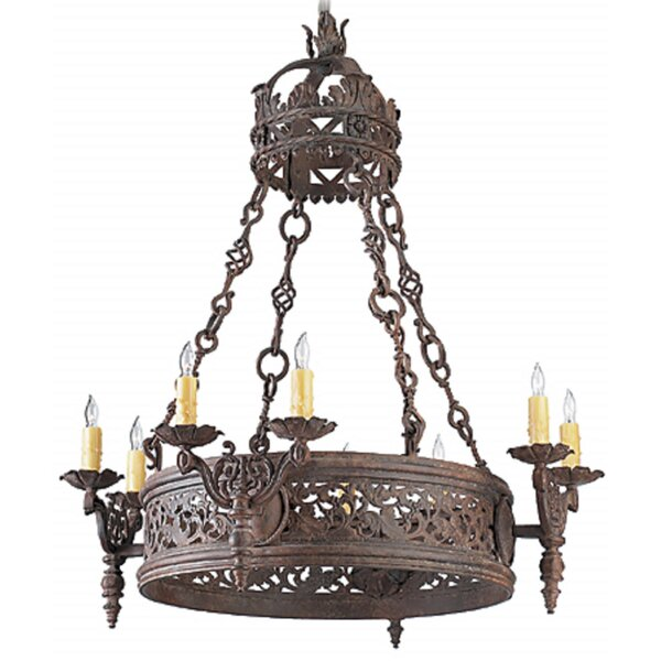 Stijn Wrought Iron 8-Light Candle Style Chandelier by Astoria Grand