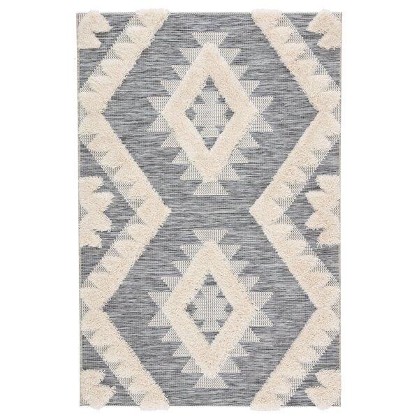 Vermehr Geometric Gray/Beige Indoor/Outdoor Area Rug by Bungalow Rose