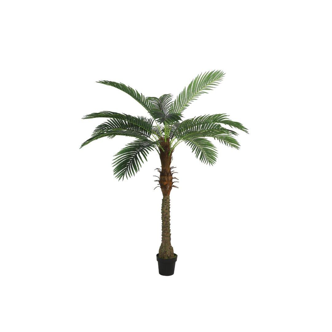 2 Artificial Areca Palm Tree in Planter Set