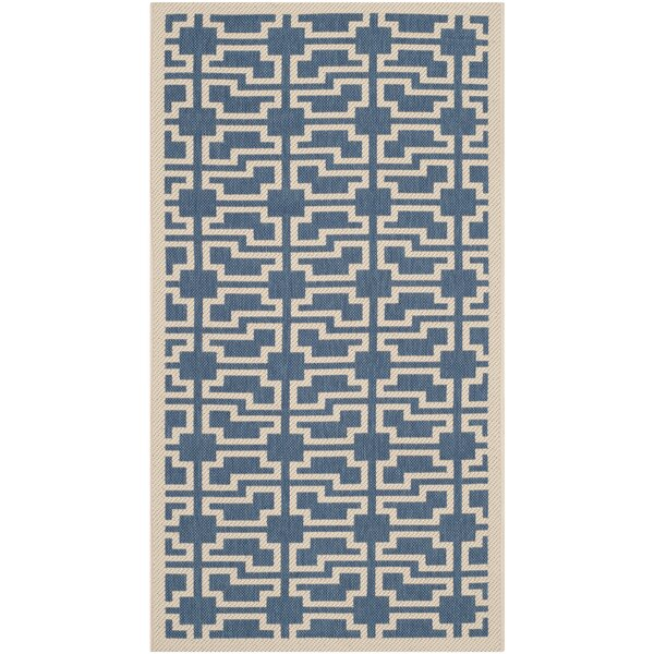 Short Blue/Beige Elaborate Outdoor Area Rug by Winston Porter