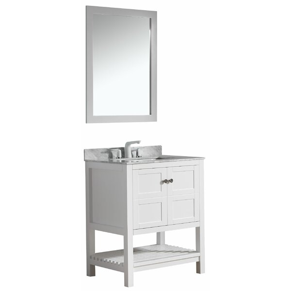 Cline 30 Single Bathroom Vanity Set With Mirror by Three Posts