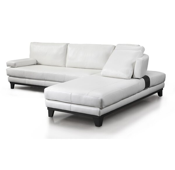 Newcastle Right Hand Facing Leather Sectional By Fornirama
