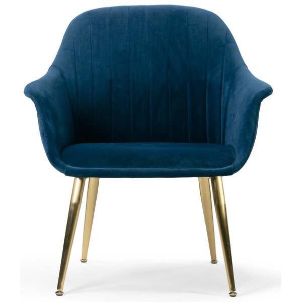 Verrett Velvet Accent Armchair by Mercer41 Mercer41