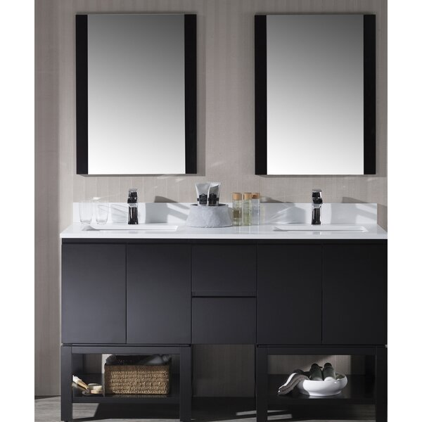 Maly 61 Double Bathroom Vanity Set with Mirror by Orren Ellis