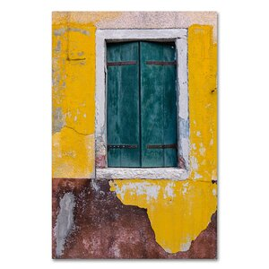 'Green Window' by Michael Blanchette Photographic Print on Wrapped Canvas by Trademark Fine Art