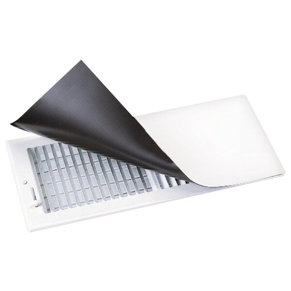 Metal Magnetic Surface Mount Vent Covers in White by Deflect-O