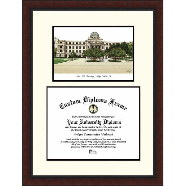 NCAA Texas A&M University Legacy Scholar Diploma Picture Frame by Campus Images