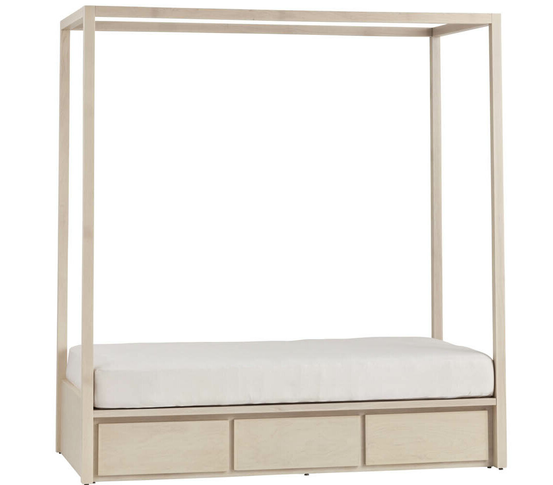Harriet Bee Kandice Twin Storage Canopy Bed without Headboard u0026 Reviews | Wayfair  sc 1 st  Wayfair : canopy bed with storage - memphite.com