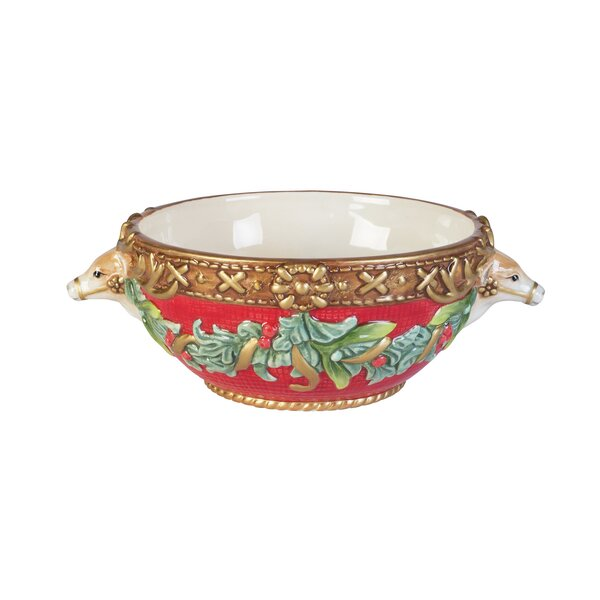 Yuletide Holiday All Purpose Bowl by Fitz and Floy