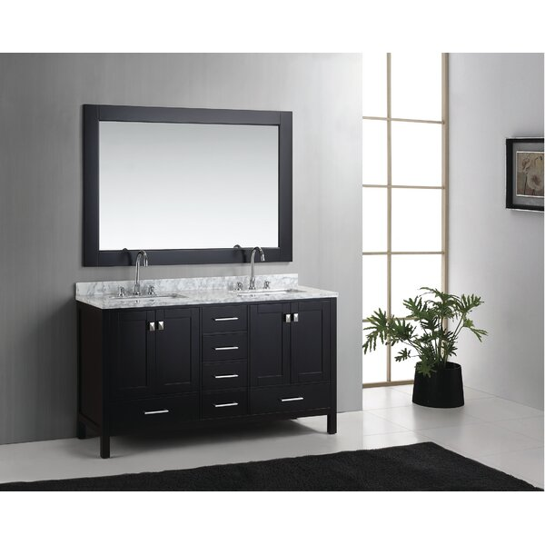 Middletown 60.75 Double Bathroom Vanity Set with Mirror by Andover Mills