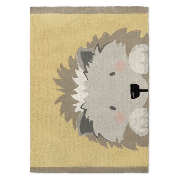 Junior Hedgehog Gray/Beige Area Rug by Harriet Bee