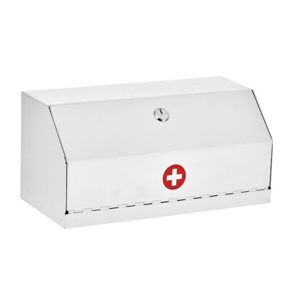 Teena Locking 12 W x 6 H Wall Mounted Drug Cabinet