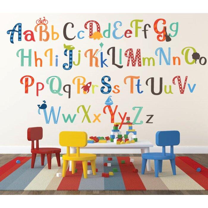 Hipple Alphabet Wall Decal