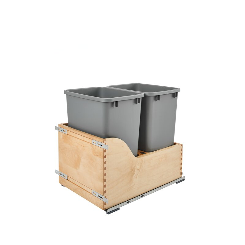 Double 8 75 Gallon Pull Out Trash Can