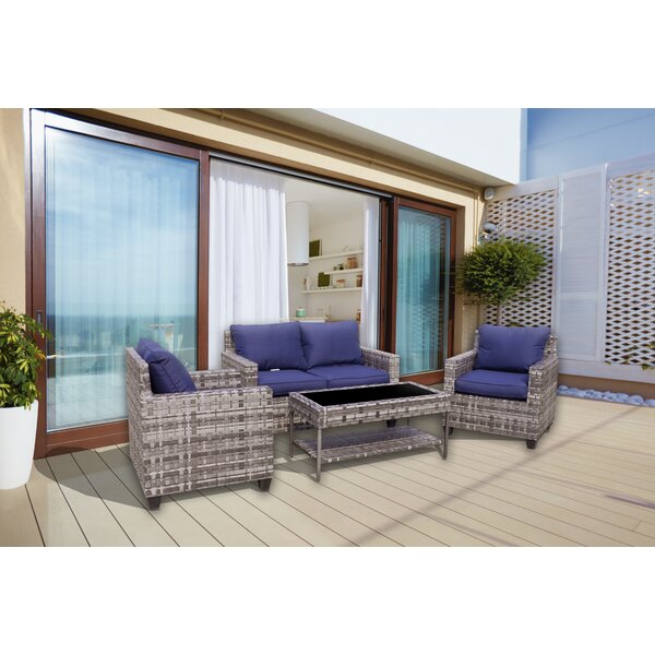 Chi 4 Piece Sofa Seating Group With Cushions by Breakwater Bay