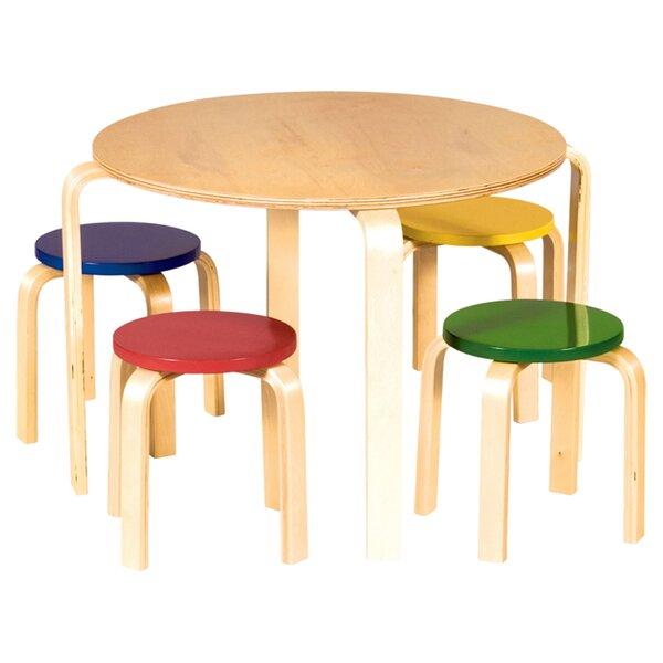 Anrey Kids 5 Piece Table & Stool Set by Viv + Rae