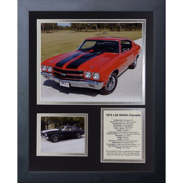1970 Chevelle 454 SS LS6 Framed Memorabilia by Legends Never Die