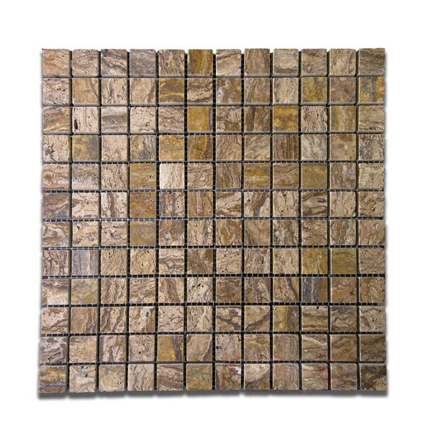 Polished 1 x 1 Natural Stone Mosaic Tile in Alpine by QDI Surfaces