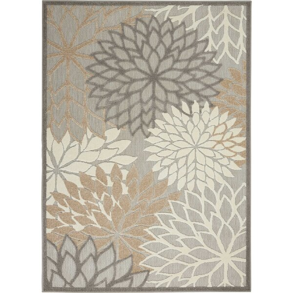 Weon Contemporary Flatweave Gray/Beige Indoor/Outdoor Area Rug by Winston Porter