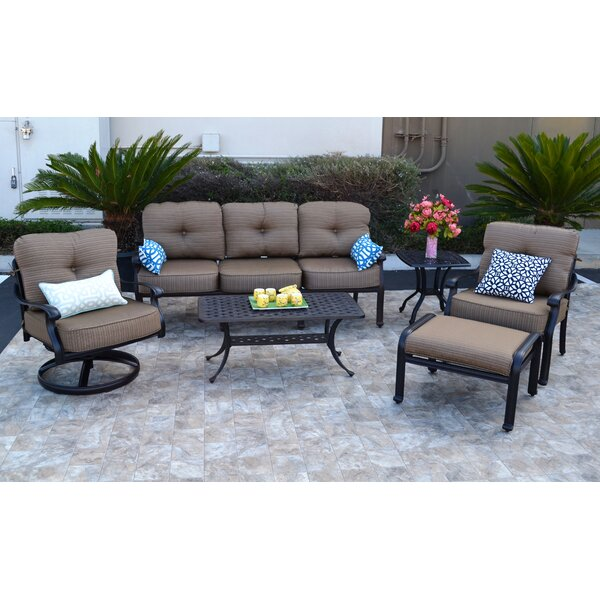 Nola 6 Piece Sofa Seating Group with Cushions by Darby Home Co