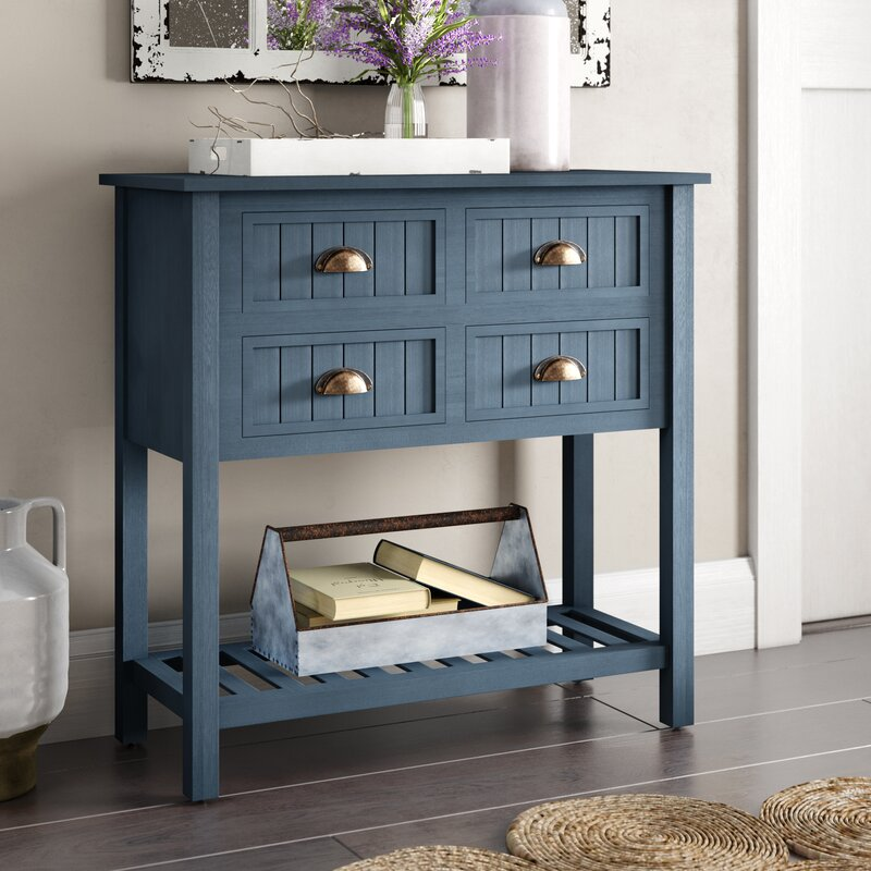 August Grove Rosas 4 Drawer Console