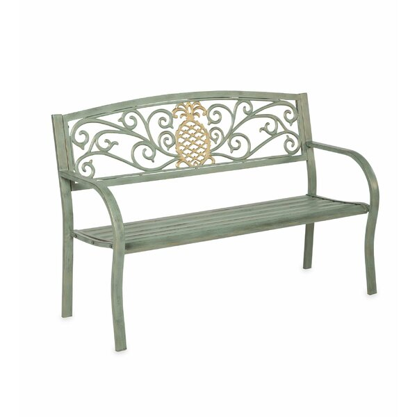 Pineapple Metal Garden Bench by Plow & Hearth