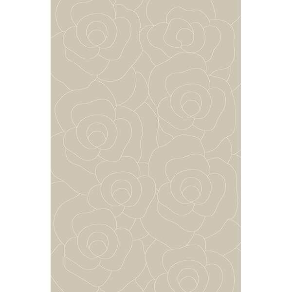 Mccampbell 3D Hand Carved Abstract Gray Area Rug by Ivy Bronx