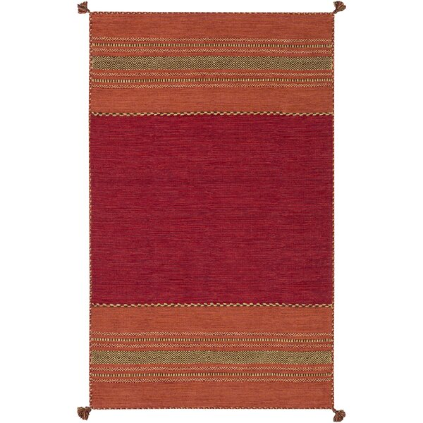 Fogarty Handwoven Red/Orange Area Rug by Birch Lane™