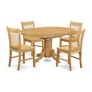 Avon 5 Piece Dining Set by East West Furniture