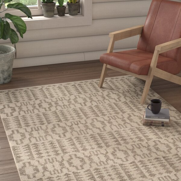 Bennett Geometric Hand-Woven Wool Ivory Area Rug by Union Rustic
