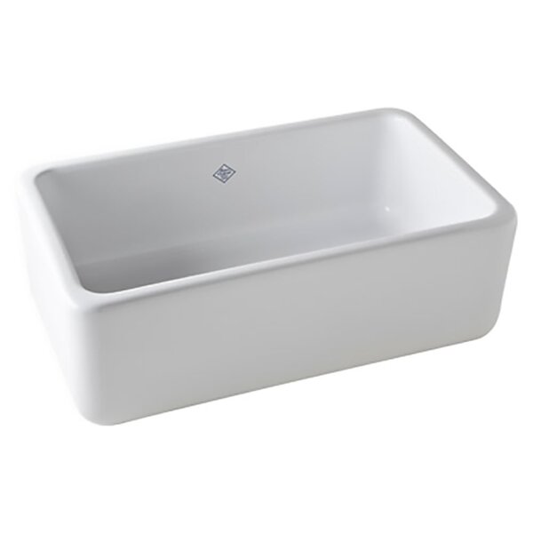 Single-Bowl Fireclay 30 L x 18 W Apron Kitchen Sink