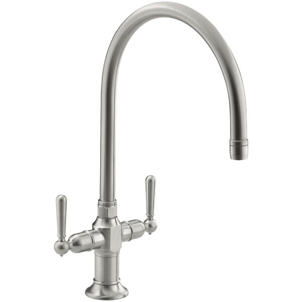 Hirisesingle Double Handle Kitchen Faucet by Kohler