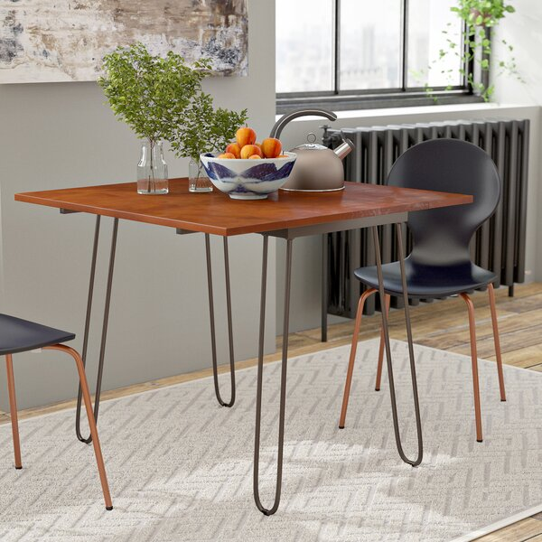 #2 Parikh Drop Leaf Dining Table With Hairpin Legs By Wrought Studio Coupon