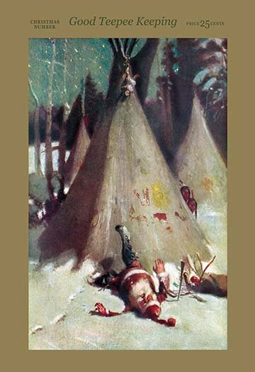 Good Teepee Keeping by Agnus MacDonall Vintage Adv